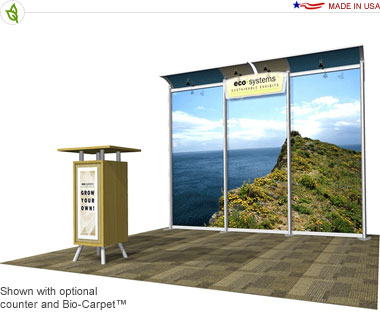 Eco-Lite Zircon · 10′ × 10′ Inline Trade Show Booth