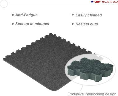 Comfort Carpet Plus™ •10′ × 10′ Interlocking Carpet Tiles