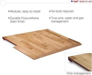 Sierra™ Wood 10′ × 20′ Interlocking Hardwood Flooring