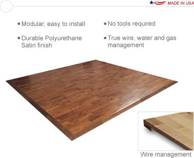 Sierra™ Premium Wood • 10′ × 20′ Premium Hardwood Floor