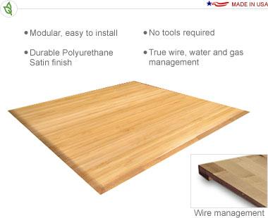 20′ × 20′ Bamboo Flooring