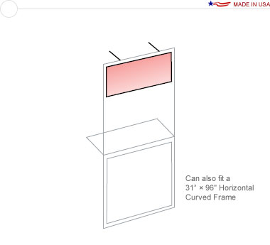 Top Graphic for a 36″ × 96″ Straight Stand Off Frame