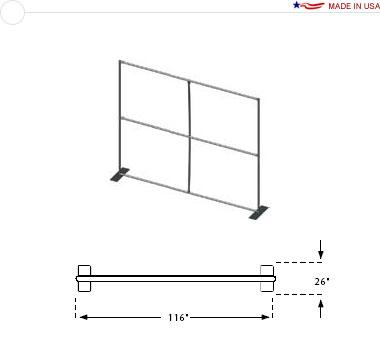 10′ × 8′ Flat Frame