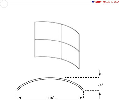 10′ × 8′ Horizontal Curved Frame