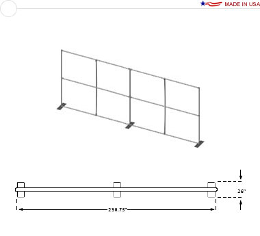 20′ × 8′ Flat Frame