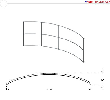 20′ × 8′ Horizontal Curved Frame