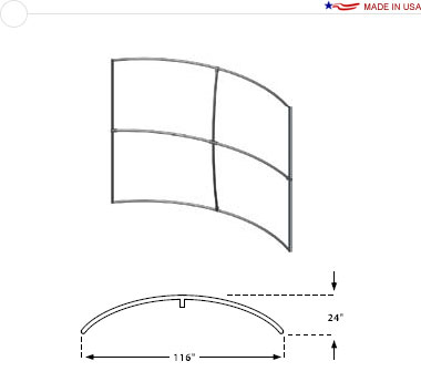 Double Sided 10′ × 8′ Horizontal Curved Frame