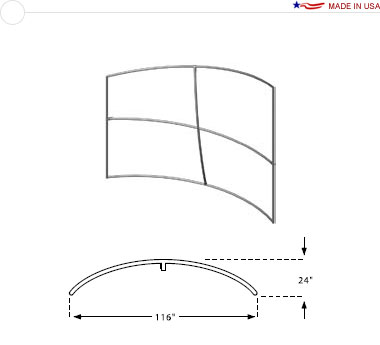 Double Sided 10′ × 8′ Horizontal Curved Sloping Left Frame