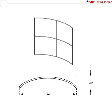 8′ × 8′ Horizontal Curved Frame
