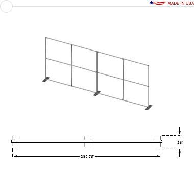 20′ × 8′ Convertible Flat Frame