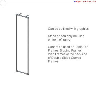 18″ × 96″ Straight Stand Off Frame