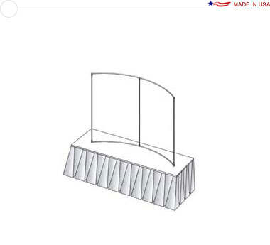 6′ × 4′ Horizontal Curved Tabletop Frame