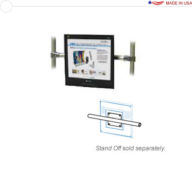 36″ Horizontal Stand Off Monitor Attachment