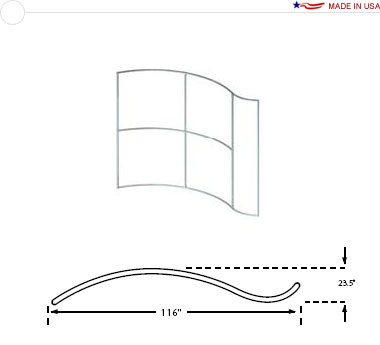 10′ × 8′ Wave Frame — Crest Right
