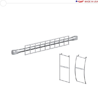 18″ Grid Wall Fixture