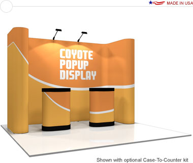 Coyote™ • 11′ Horseshoe Pop Up Display • Graphic Mural Kit