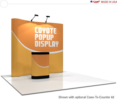Coyote™ • 8′ Serpentine Pop Up Display • Graphic Mural Kit