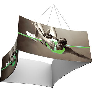Formulate™ Hanging Banner Sign • Concave, Four-Sided (Square)