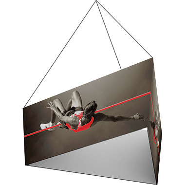 Formulate™ Hanging Banner Sign • Tapered, Three-Sided (Triangle)