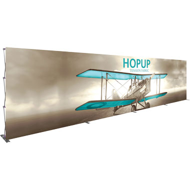 Hop Up™ 12×3 Straight Pop Up Display with Front Graphic