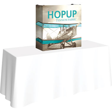 Hop Up™ 1×1 Tabletop Display with Full Fitted Graphic