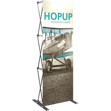Hop Up™ 1×3 Pop Up Tower with Front Graphic