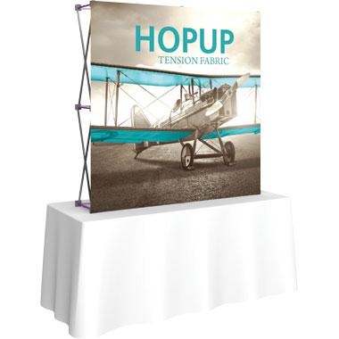 Hop Up™ 2×2 Straight Tabletop Display with Front Graphic