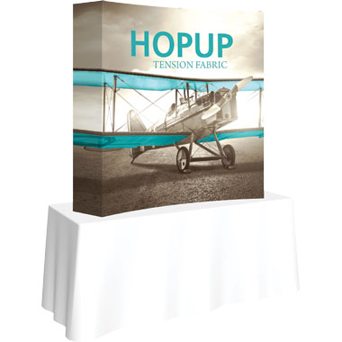 Hop Up™ 2×2 Curved Tabletop Display with Full Fitted Graphic