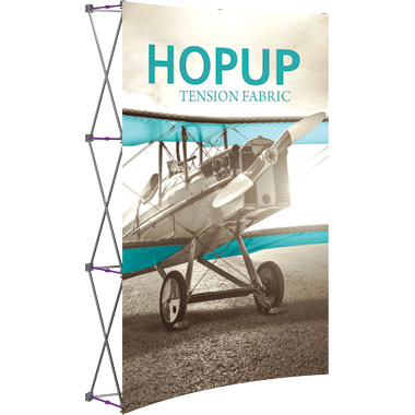 Hop Up™ 2×3 Curved Pop Up Display with Front Graphic