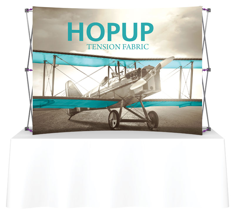 Hop Up ™ 3×2 Curved Tabletop Display With Front Graphic Part 92