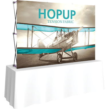 Hop Up™ 3×2 Straight Tabletop Display with Front Graphic
