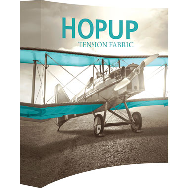 Hop Up™ 3×3 Curved Pop Up Display with Full Fitted Graphic