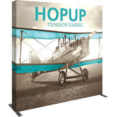 Hop Up™ 3×3 Straight Pop Up Display with Full Fitted Graphic