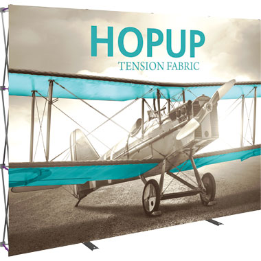 Hop Up™ 4×3 Straight Pop Up Display with Front Graphic