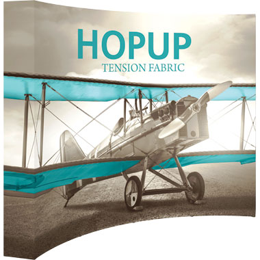 Hop Up™ 4×3 Curved Pop Up Display with Full Fitted Graphic