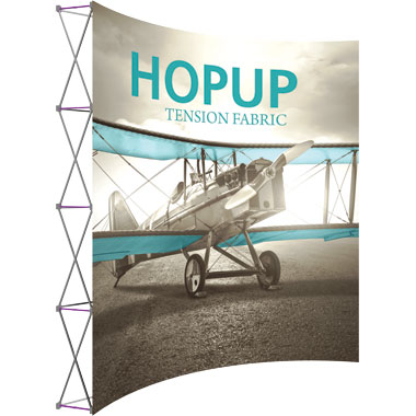 Hop Up™ 4×4 Curved Pop Up Display with Front Graphic
