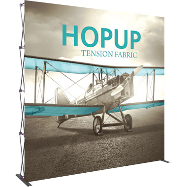 Hop Up™ 4×4 Straight Pop Up Display with Front Graphic