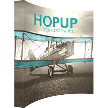 Hop Up™ 4×4 Curved Pop Up Display with Full Fitted Graphic