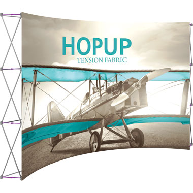 Hop Up™ 5×3 Curved Pop Up Display with Front Graphic
