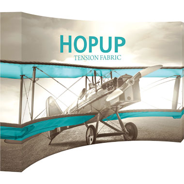 Hop Up™ 5×3 Curved Pop Up Display with Full Fitted Graphic