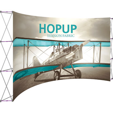 Hop Up™ 6×3 Curved Pop Up Display with Front Graphic
