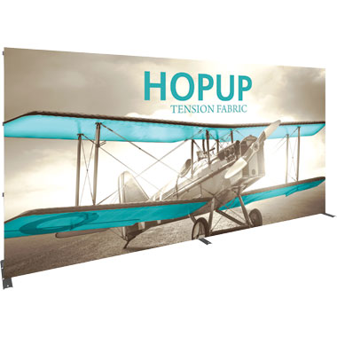 Hop Up™ 6×3 Straight Pop Up Display with Front Graphic