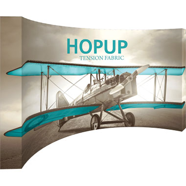 Hop Up™ 6×3 Curved Pop Up Display with Full Fitted Graphic