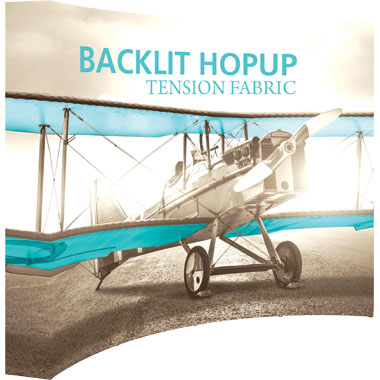 Hop Up™ 4×3 Backlit Pop Up Display