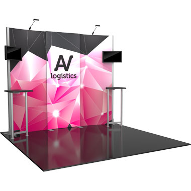 Hybrid Pro™ Modular 10′ Trade Show Exhibit Backwall • Kit 01