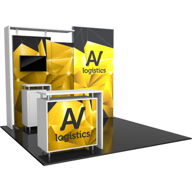 Hybrid Pro™ Modular 10′ Trade Show Exhibit Backwall • Kit 03