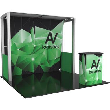 Hybrid Pro™ Modular 10′ Trade Show Exhibit Backwall • Kit 04