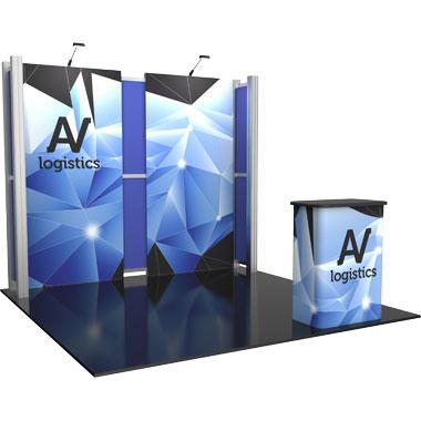 Hybrid Pro™ Modular 10′ Trade Show Exhibit Backwall • Kit 05