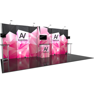 Hybrid Pro™ Modular 10′ Trade Show Exhibit Backwall • Kit 09