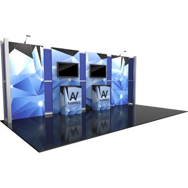 Hybrid Pro™ Modular 10′ Trade Show Exhibit Backwall • Kit 13